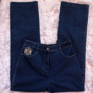 St.John Collection High-Rise Straight Leg Pants 4